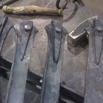 foot detail after riveting