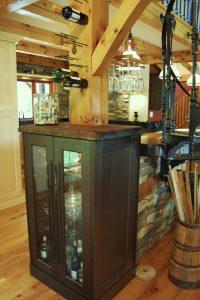 Wine rack and drawer pulls
